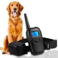 Rinde Deterrents 100 Getriebe Wiederaufladbare Regendicht Hundehalsband Hund Bellen Kragen Hund aufhören zu Bellen gerät 300 Mt remote US UK EU
