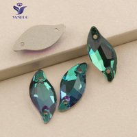 YANRUO 3254 Leaf 14x30mm 48pcs Sew On Glass Rhinestones Stones And Crystal Sewing Accessories Craft Sewing For Clothes