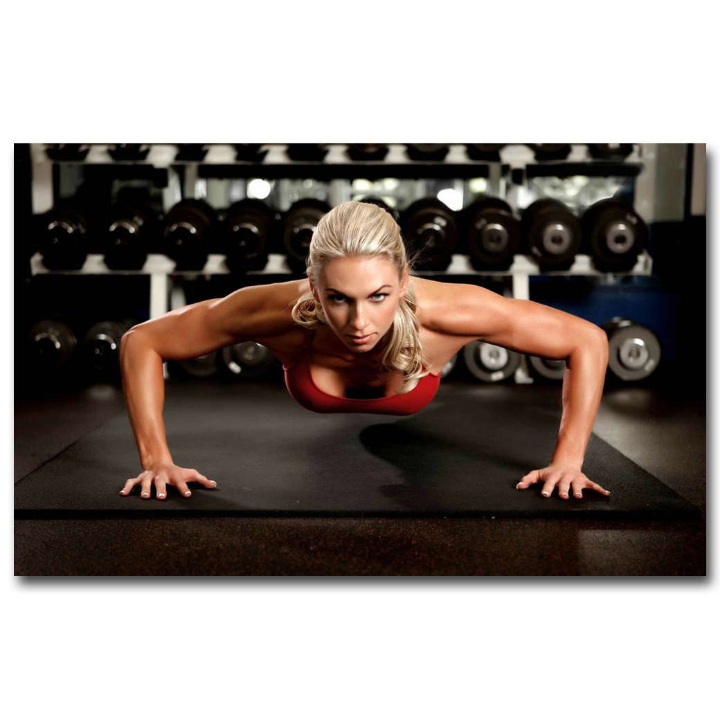 Fitness Bodybuilding Silk Poster Print 13x20 24x36 Inch Gym Decor Pictures 060
