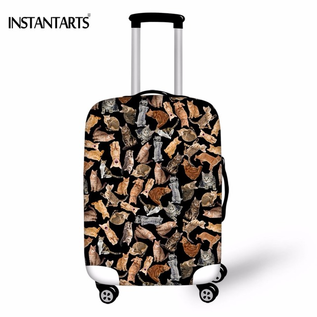 29bd3a84a062 US $16.52 13% OFF|INSTANTARTS 3D Many Funny Cats Pussy Printed Travel  Luggage Waterproof Covers Apply to 18