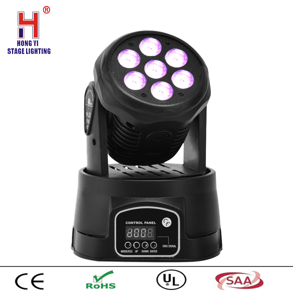 Disco RGBW Stage Light 7x12W Moving Head Beam LED Wash Light DMX 512 Party DJ LightingDisco RGBW Stage Light 7x12W Moving Head Beam LED Wash Light DMX 512 Party DJ Lighting