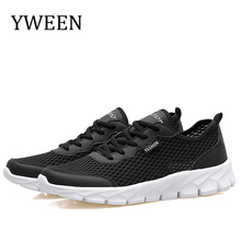 цена на YWEEN Summer Sneakers Men Shoes Breathable Fashion Mesh Casual Shoes Men Women Mesh Shoes Big Plus Size 36-48