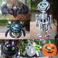 6 стилей Хэллоуин надувной паук летучая мышь Скелет тыквы воздушные шарики Висячие баллоны для вечерние сад
