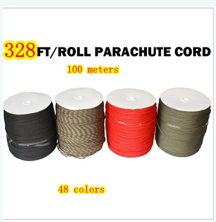 328Ft 100meters 550 Paracord Parachute Cord Lanyard Rope Mil Spec Type III 7 Strand Core