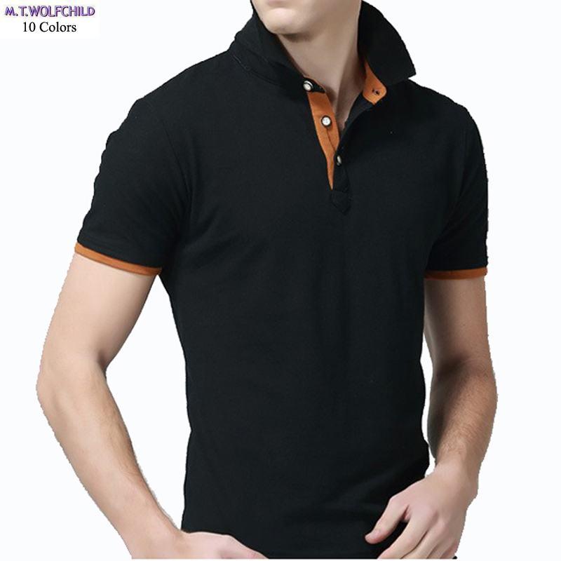 Good quality 2018 Summer New mens short sleeve   polos   shirts casual mens cotton   polos   shirts fashion mens slim tees 4XL