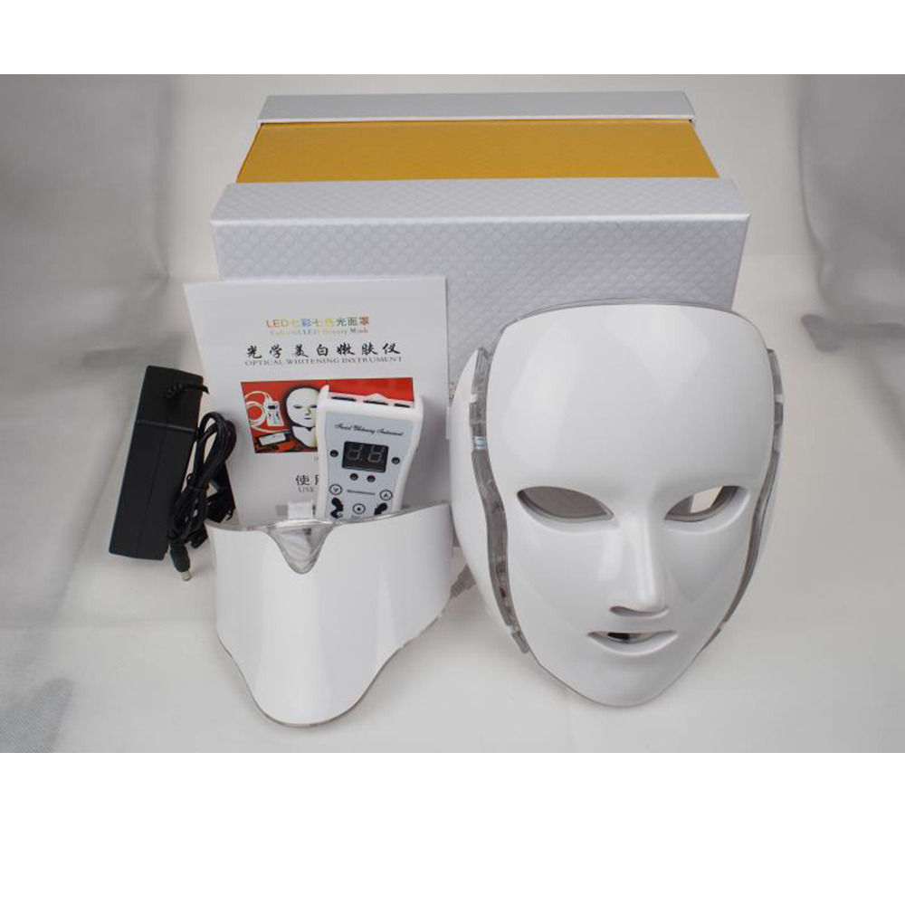 JOYJULY 7 Colors Led Facial Mask Led Korean Photon Therapy Face Mask Machine Light Therapy Acne Mask Neck Beauty Led Mask