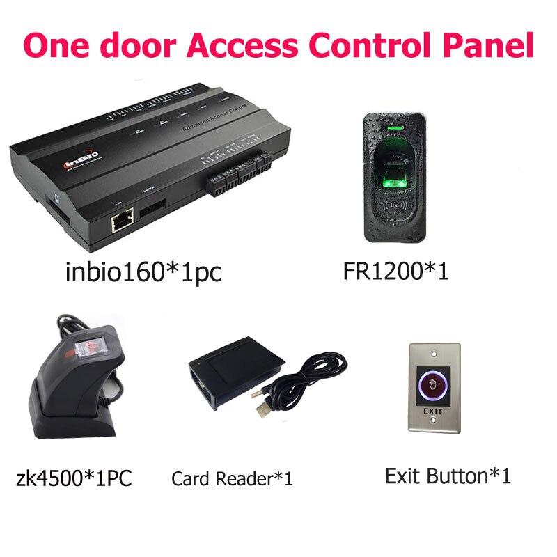 Inbio160 fingerprint & RFID door access control system Kit+FR1200+Zk4500 Reader One Door AccessInbio160 fingerprint & RFID door access control system Kit+FR1200+Zk4500 Reader One Door Access