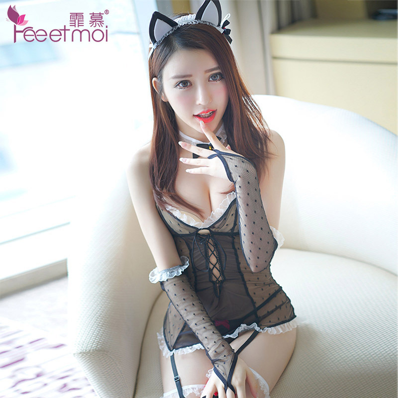 Rabbit Girl Cosplay Babydoll Role-playing Japanese Lingerie Sexy Uniform Erotic Lingerie Bunny Costumes Party Uniform Lingerie