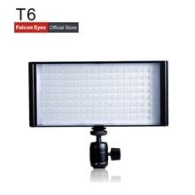 Falcon Eyes Bi-Color LED Video Studio Panel Light Continuous Mini Lamp Portable Dimmable Fotografia On Camera  T6 for wedding