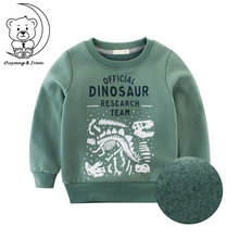 Autumn Childrens Sweatshirt O-neck Fleece Top Winther Warm Hoodies Without Cap Boy Blue Outwear Kid Sport Clothes