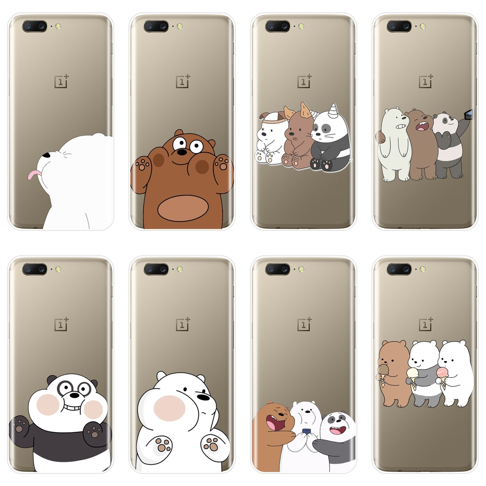 Cartoon Animal <font><b>Phone</b></font> Case For OnePlus 3 3T 5 5T <font><b>6</b></font> 6T Soft Silicone We Bare Bears Panda Back <font><b>Cover</b></font> For <font><b>One</b></font> <font><b>Plus</b></font> <font><b>6</b></font> 6T 5 5T 3 3T image