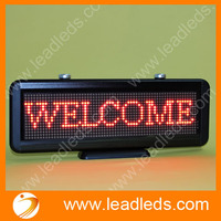 Free shipping 16*64 dots Red Single Color USB Programmable Led Moving Sign Board for car advertising indoor dispalys