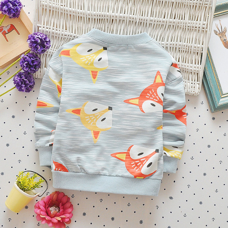 Casual-Autumn-Baby-Babi-Children-Girls-Boys-Infants-Printed-Cartoon-Fox-Cotton-Long-Sleeve-T-shirt-Tops-Tee-Clothes-S5571-4