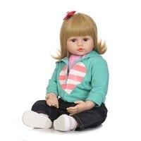 NPKCOLLECTION 58 см силиконовые возрождается Boneca реалиста Мода Bebe куклы для детей подарок на день рождения приятеля Кукла реборн