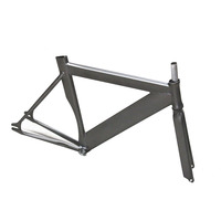 700C Bike 58cm Frame Bicycle Fixie Fixed Gear Frame And Fork Bike Aluminum Alloy 6061 Frameset