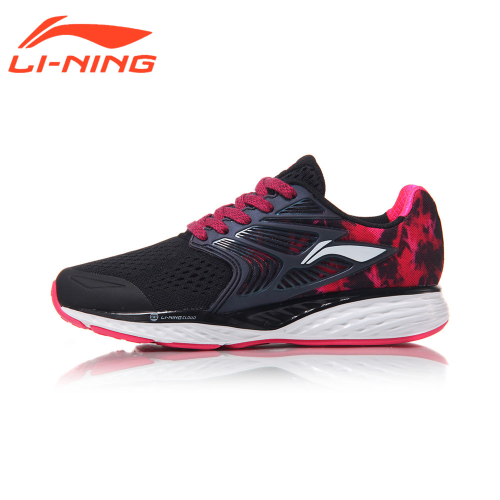 Li-Ning Women's Running Shoes CLOUD IV PLUS Professional Cushioning Breathable Sneakers LiNing Sports Shoes ARHM026 original li ning men professional basketball shoes