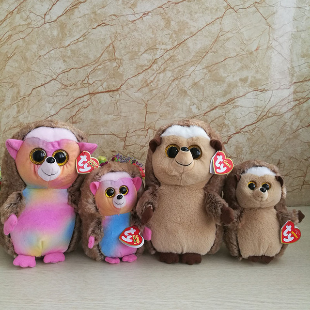 4790a0f5496 2 pcs  lot 25cm And 15cm Ida Hedgehog Plush Toy Ty Beanie Boos Collection Big  Eyed Stuffed Animal Doll Kids Toy Birthday Gift