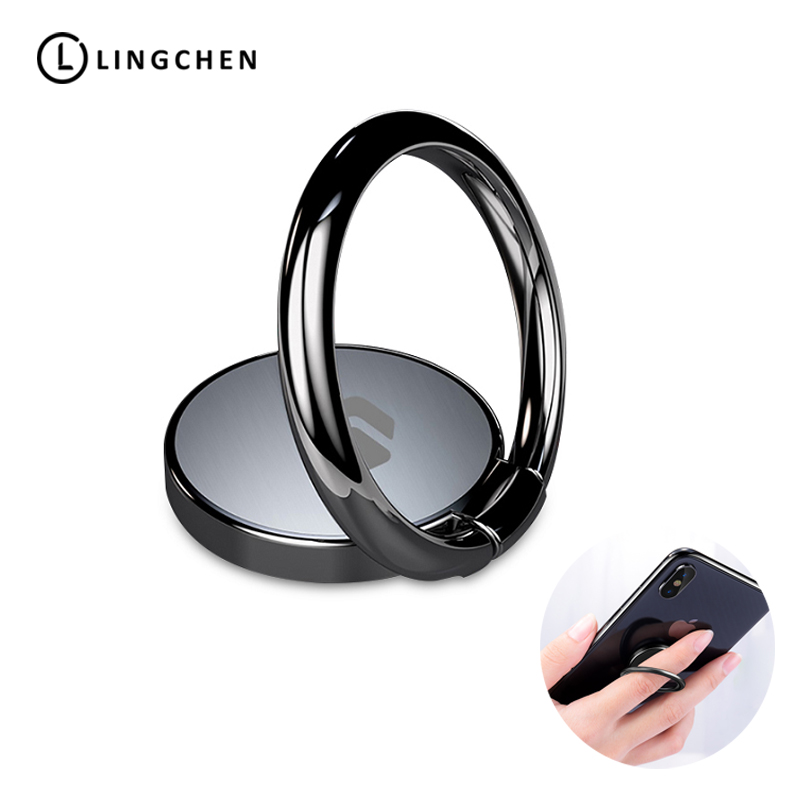 LINGCHEN Finger Ring Holder For IPhone X Tablet Universal 360 Rotation Mobile Phone Holder Stand For Xiaomi 9 Samsung Cell Phone