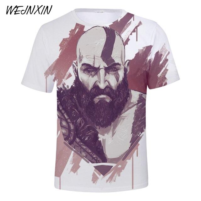 God Of War 3D Design T-Shirt Men Women O-Neck Summer Tshirt Hot Game T Shirts Tops Camisetas Clothing 1