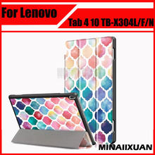"PU Leather Case For Lenovo Tab4 Tab 4 TB-X304L X304F X304N 10.1"" Case Protective cover For Lenovo tab 4 10 TB X304L Tablet(China)"