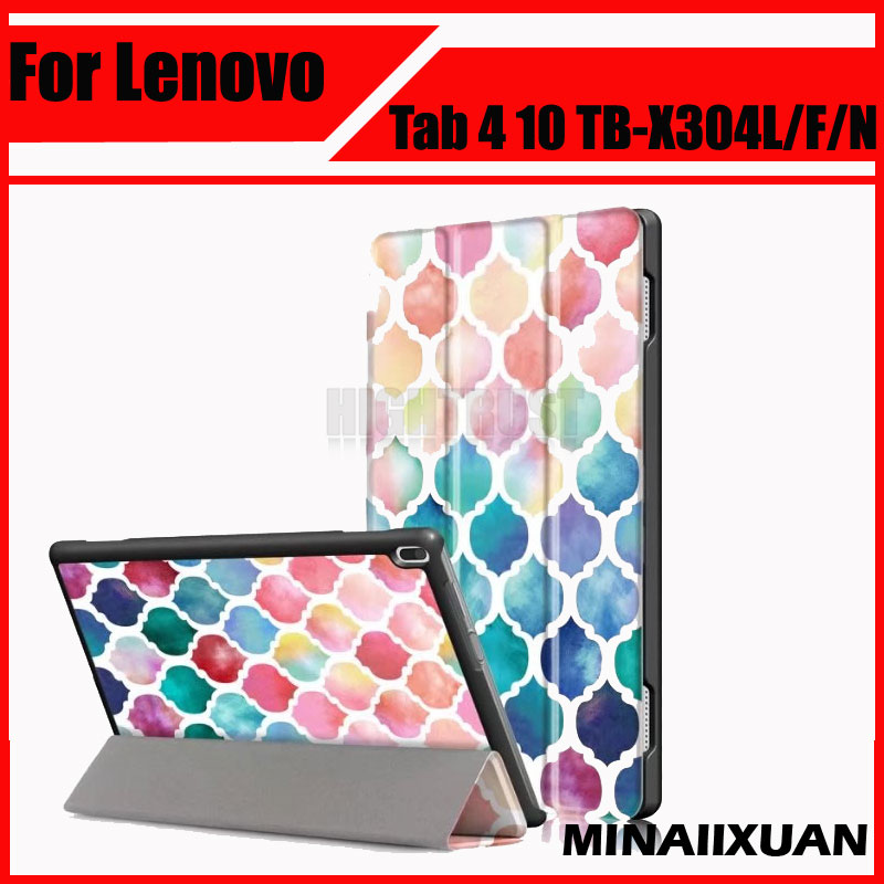 PU Leather Case For Lenovo Tab4 Tab 4 TB-X304L X304F X304N 10.1 Case Protective cover For Lenovo tab 4 10 TB X304L Tablet