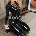 Women latex leotard black suit (not including socks)