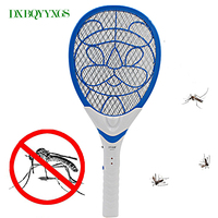 3 Layers Net Dry Cell Hand Racket Electric Swatter Home Garden Pest Control Insect Bug Bat