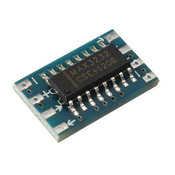 CAA-Mini RS232 - TTL Converter Module Board Adapter MAX3232 120kbps 3-5V Serial Port