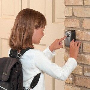 Image 5 - Durável caixa de armazenamento chave segurança bloqueio suporte montagem na parede 4 dígitos combinação organizador seguro para o escritório em casa cassaforte seguridad