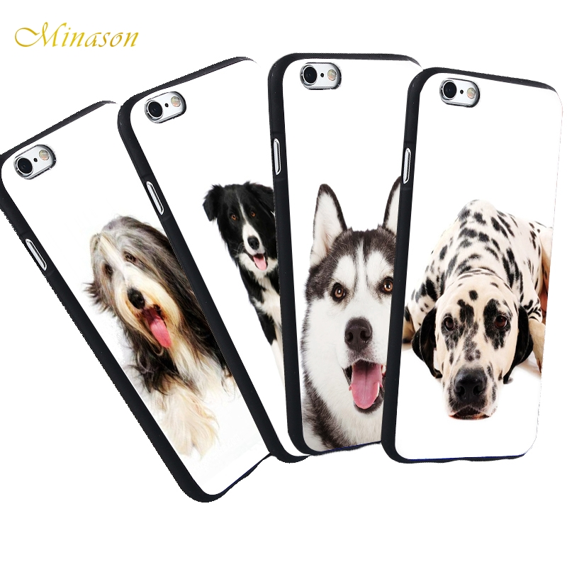 Minason New Phone Case For iPhone X 8 5 S 5S SE 7 Plus 6 6S Case Bullterrier Cute Lovely Dog Silicon Soft Fitted Cover
