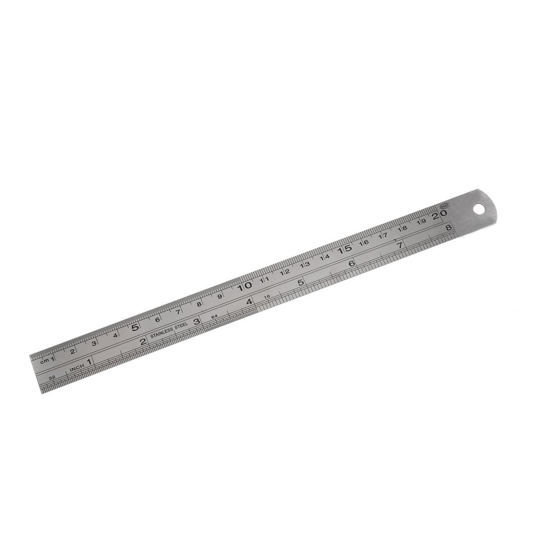 Perfect-Stainless Steel 20cm 8 Inch Metric Straight Ruler Measuring Tool