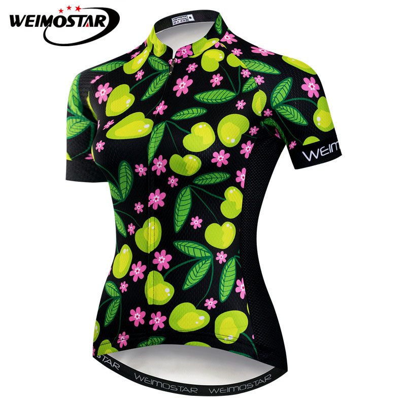 Detail Feedback Questions about Weimostar Summer Short Sleeve Cycling Jersey  Women Breathable MTB Bike Jersey Outdoor Sport Downhill Bicycle Clothing ... bdea4e36f