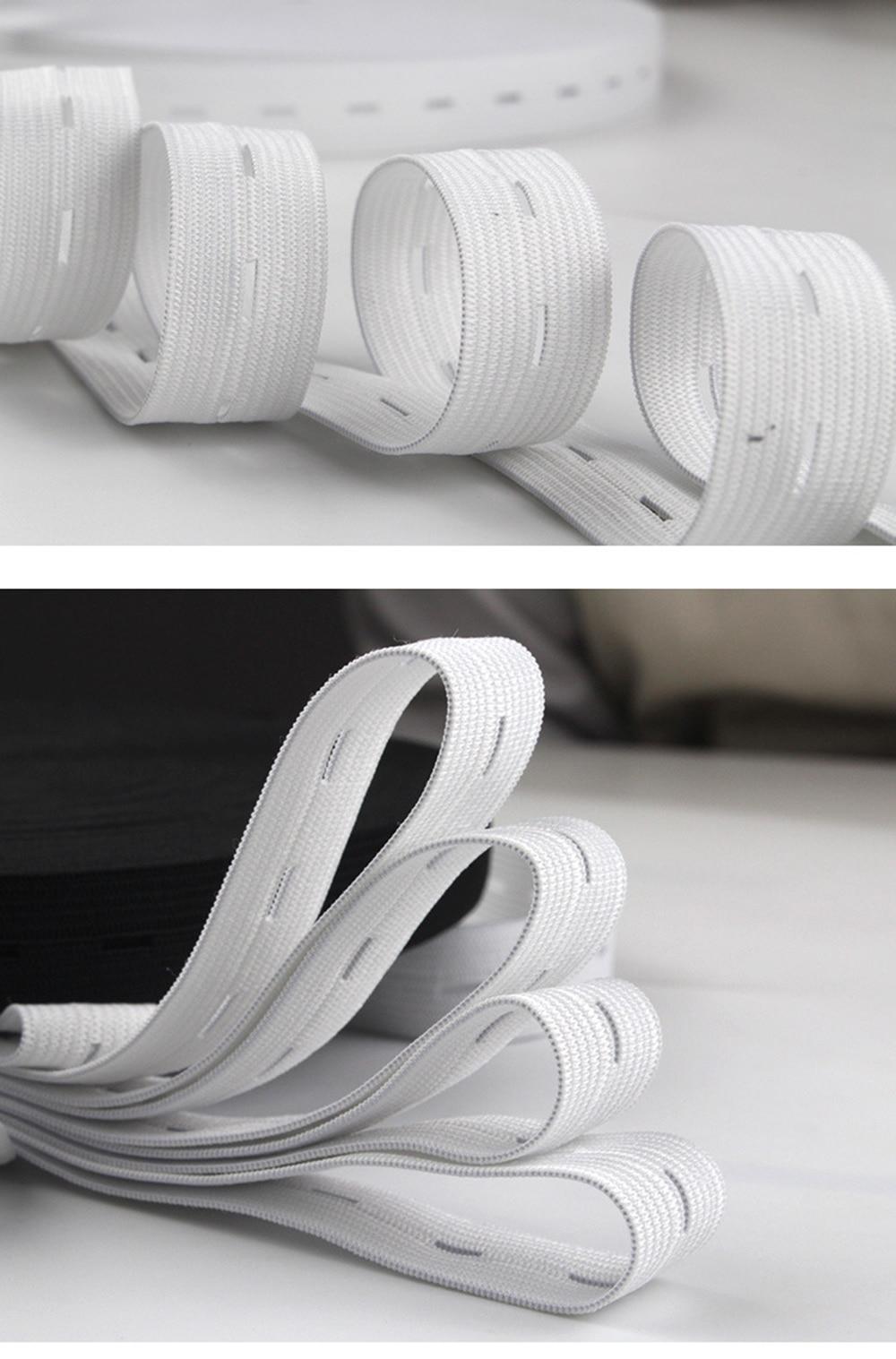 1 metros ojal goma beige agujero de goma cinta elástica blanco aprox 20//25 mm de ancho