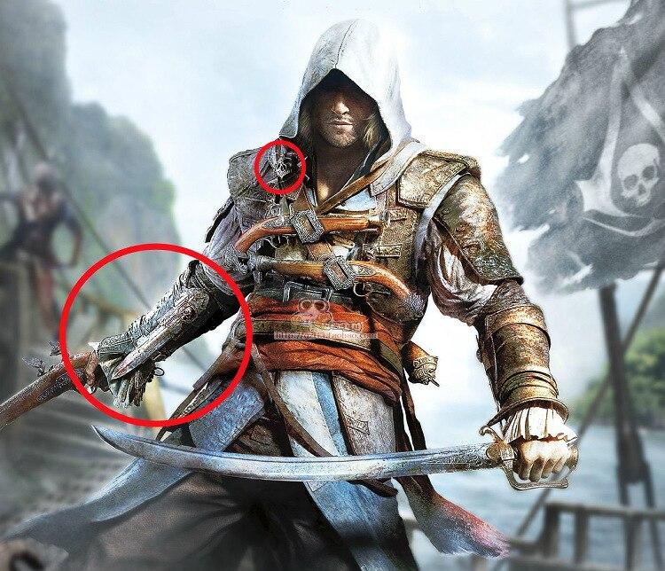 NECA Assassins Creed 4 Hidden Blade Edward Kenway Juguetes Action Figure Cosplay