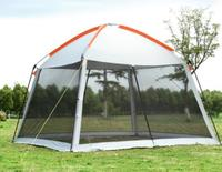 High Quality Single Layer 5 8Person Family Party Gardon Beach Camping Tent Gazebo Sun shelter Pergola Mosquito Net 2Colors