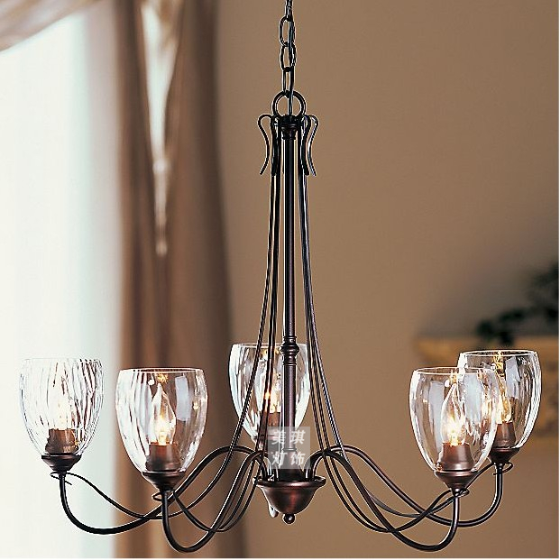 American Vintage Wrought Iron Pendant Light Nordic Brief