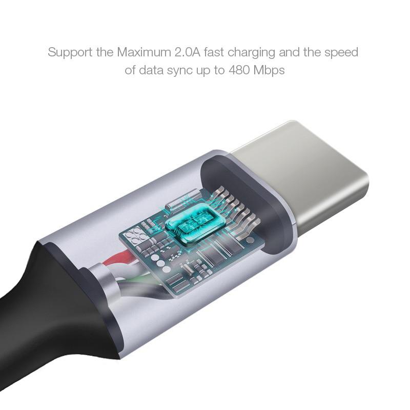 CAFELE Original Type C USB-kabel för Huawei Xiaomi One Plus - Reservdelar och tillbehör för mobiltelefoner - Foto 4