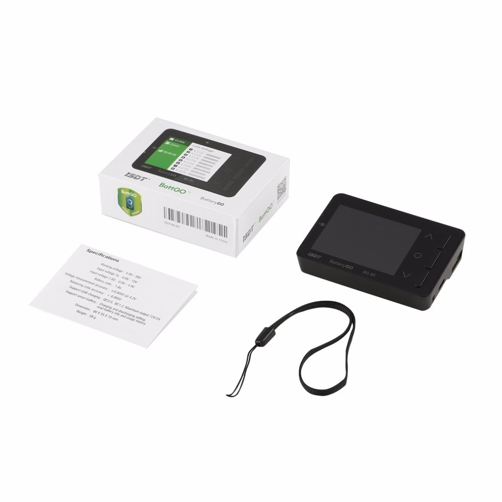 1pcs ISDT BG-8S Battery Display Smart Battery for Checker Balancer Receiver