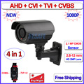 2MP AHD-H CVI TVI CVBS surveillance camera 4in1 1080P outdoor camaras de seguridad, Varifocal Lens, 42 LEDs, OV2710, bracket OSD