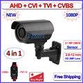 2MP AHD-H CVI TVI camaras de seguridad surveillance camera 4em1 CVBS 1080 P ao ar livre, Lente Varifocal, 42 LEDs, OV2710, suporte OSD
