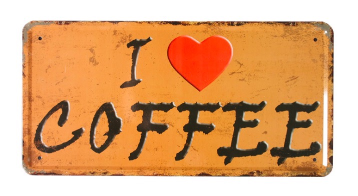 1 pc I love Coffee Cappuccino cafe shop plaques Tin Plate Sign wall man cave Decoration Poster metal vintage retro shabby decor