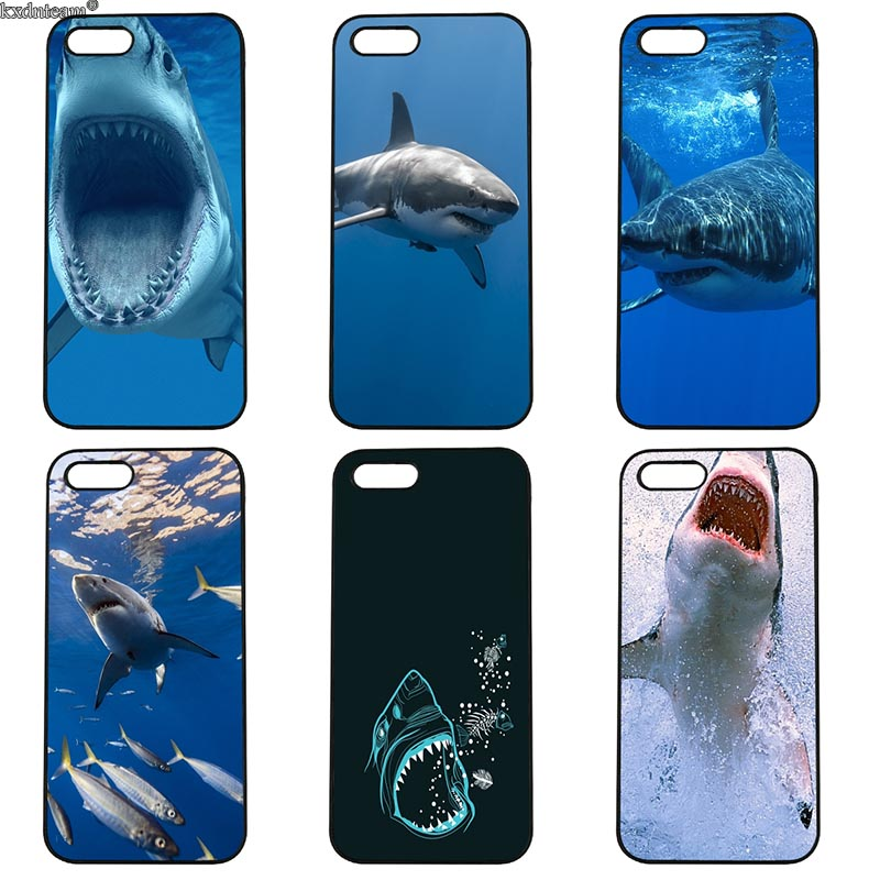 Ocean Whale Sharks Fish Mobile Phone Case Hard PC Cover Fitted for iphone 8 7 6 6S Plus X 5S 5C 5 SE 4 4S iPod Touch 4 5 6 Shell