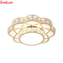 Luxury  Gold Crystal Chandelier Lighting Ceiling Lamps For Kitchen Living Room Lustres Plafonnier Luminarias AC110V 220V Fxiture