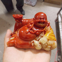 Shoushan stone carving exquisite ornaments lucky Ruyi Buddha decorative arts and crafts gifts of money Home Furnishing
