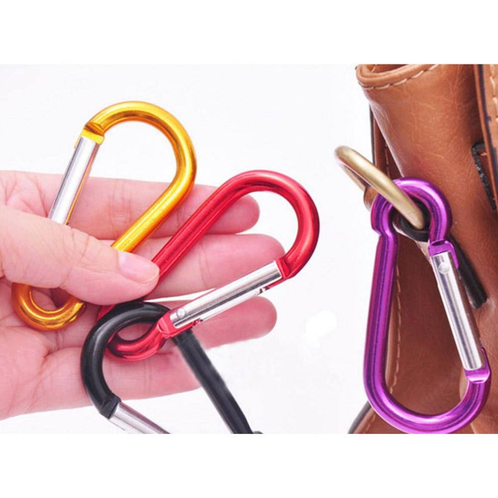 Image 3 - 20Pcs Random Color Aluminum Alloy Carabiner Outdoor Hanging Buckle Water Bottle Bag Buckle-in Climbing Accessories from Sports & Entertainment