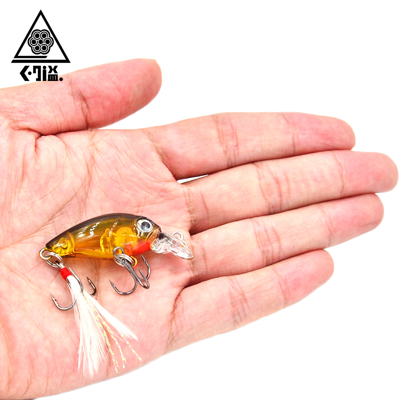 3.6cm 4g Mini Fishing Crankbait with Feather Crank Bait Fishing Lure Crank Bait Hard Plastic Artificial Fishing Lures CB028 wldslure 1pc 54g minnow sea fishing crankbait bass hard bait tuna lures wobbler trolling lure treble hook