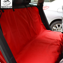 MDSTOP  Black Red Dog Car Rear Seat Protector Waterproof Travel Cat Pet Carrier Cushion Mat Truck Suv Bench Seat Cover