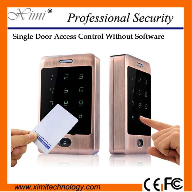 Hot sale face waterproof M13A smart proximity 13.56mhz MF card reader door control swipe to open the door acces control system hot sale extra door
