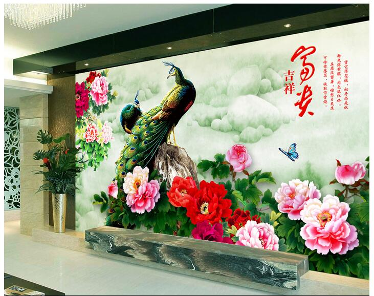 3d wallpaper custom photo non-woven mural wall sticker 3 d Hd peony peacock painting picture 3d wall room murals wallpaper custom photo 3d wallpaper non woven mural wall sticker british architecture painting picture 3d wall room murals wallpaper
