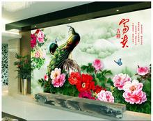 3d wallpaper custom photo non-woven mural wall sticker 3 d Hd peony peacock painting picture 3d wall room murals wallpaper 3d wallpaper custom photo non woven picture retro rose floor mural back painting 3d murals wallpaper room decoration wallpaper